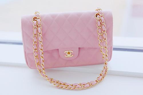 chanel bolsa rosa