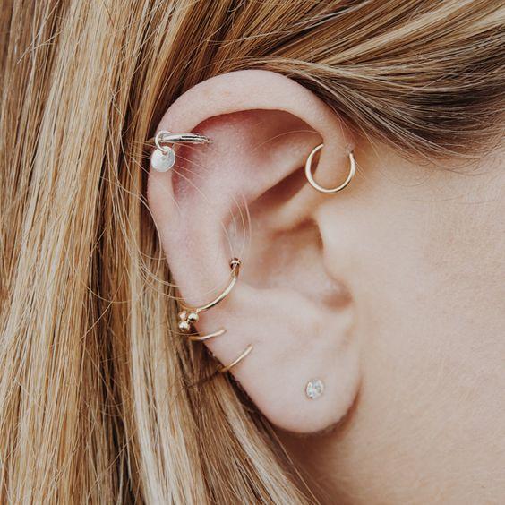 Piercing oreja nombres