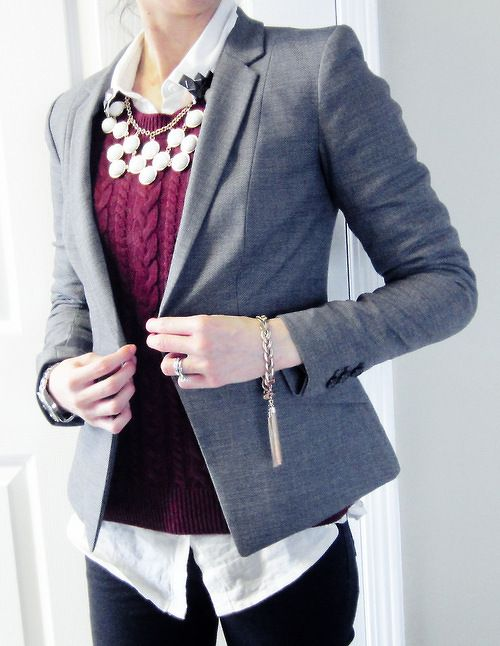 outstanding outfit oficina gris 11