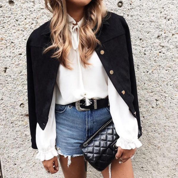 shorts outfit chic