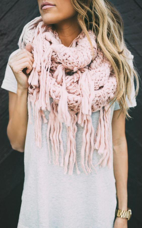 manga larga chalecos y bufanda una combinacin que tienes que probar