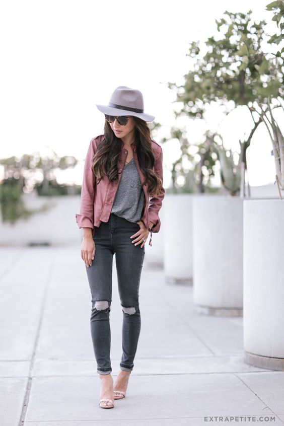 15 combinaciones con jeans grises que te enamorar n - Combinaciones con gris ...
