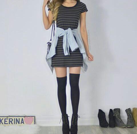 knee-socks-outfit