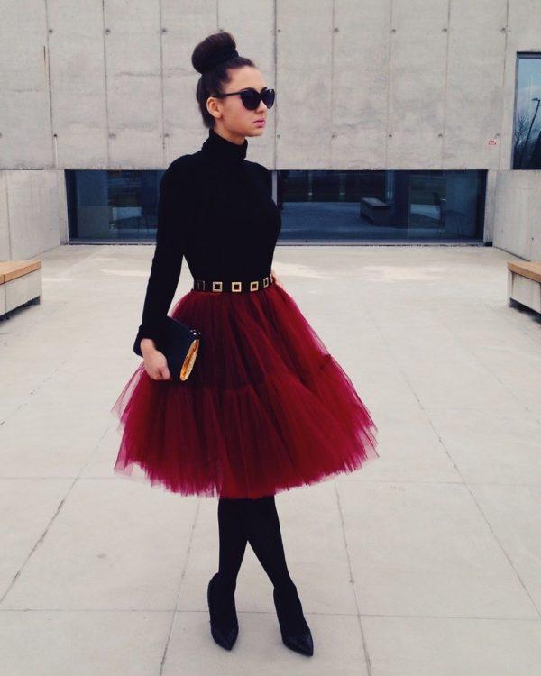 tul-falda-roja
