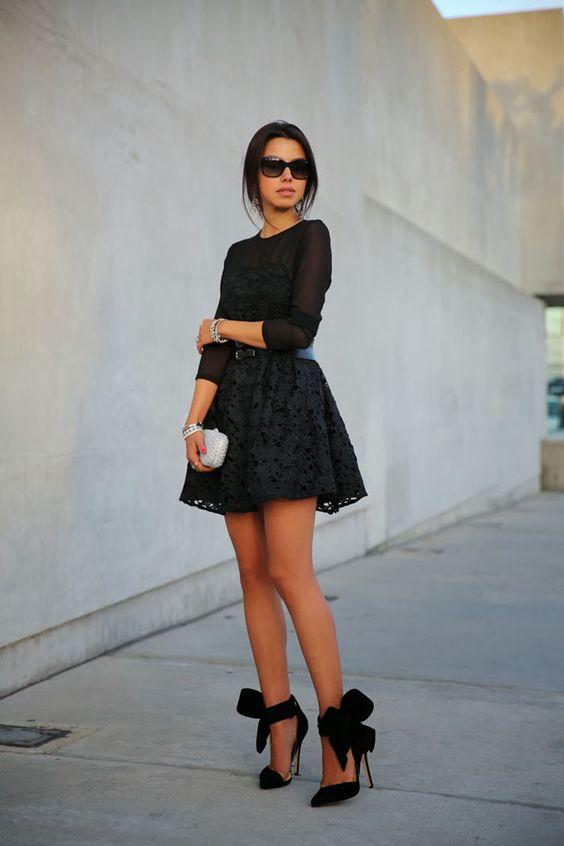 vestidos-cortos-manga-larga