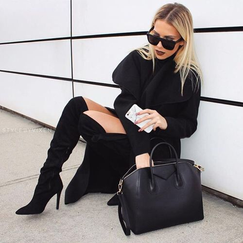 all-black-sweater-dress