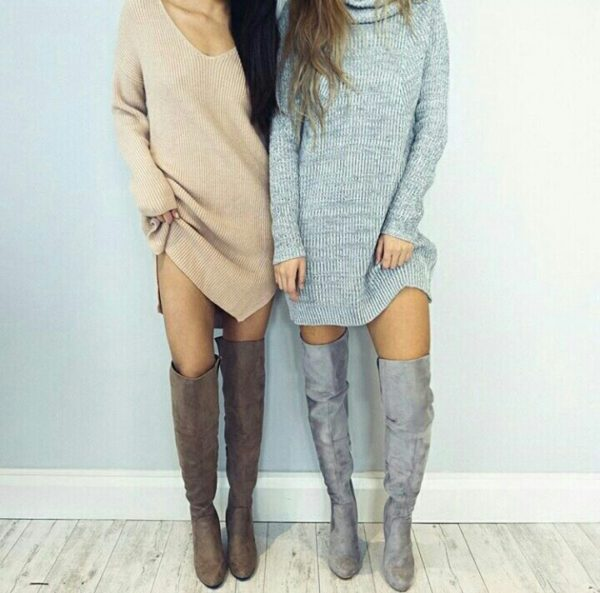 chic-sweater-dress