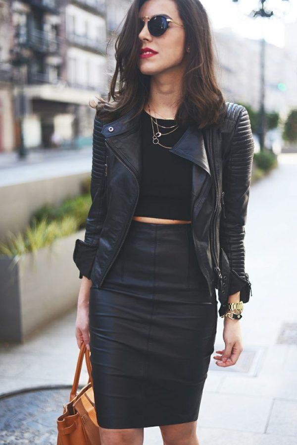 falda-cuero