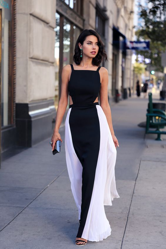 maxi-dress-white-and-black