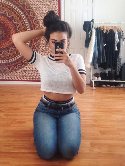 selfie-sentada