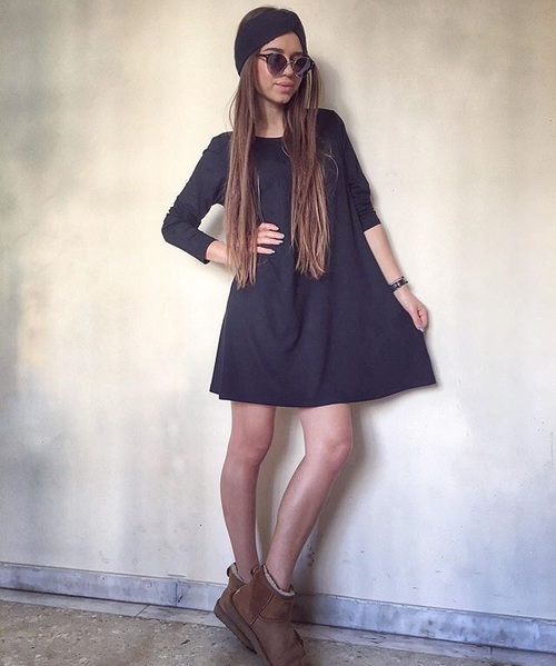Maneras De Usar Botas Ugg Con Vestidos