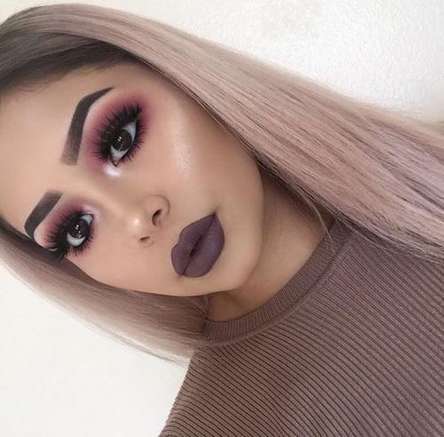 11 Maquillajes Para Combinar Con Labial Oscuro