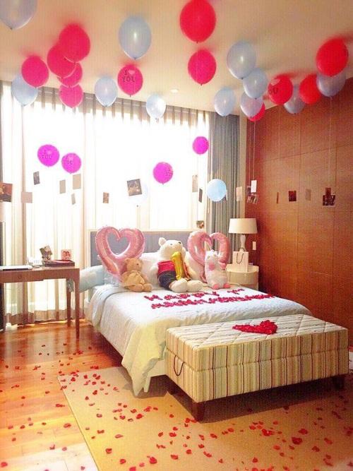 Regalos con globos que necesito recibir este san valent n for Cuartos decorados para una noche de amor