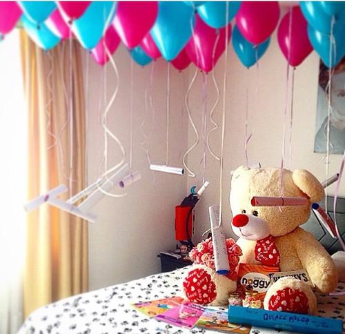 Regalos con globos que necesito recibir este san valent n for Ideas para decorar habitacion sorpresa