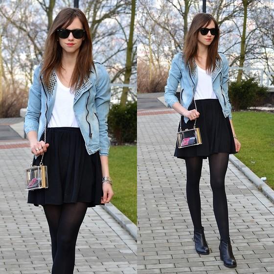 523c6aacd 15 Outfits con falda skater negra para ser la más bonita en el colegio