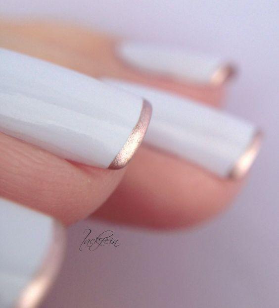 10 Maneras de pintar tus uñas con esmalte Rose Gold