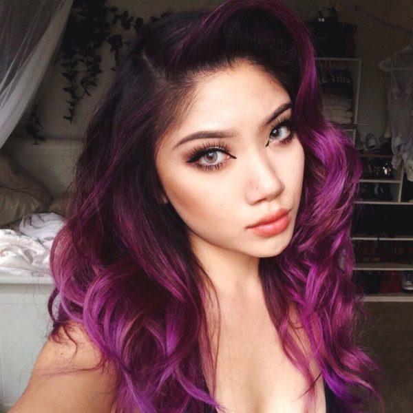 15 Hairstyles Con Cabello Rosita Morado Y P 250 Rpura Que Se