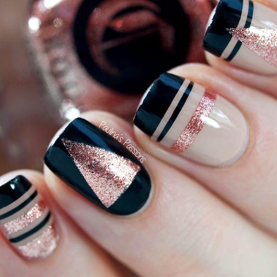 Diseños que te convencerán de pintarte las uñas de \'Rose Gold\'