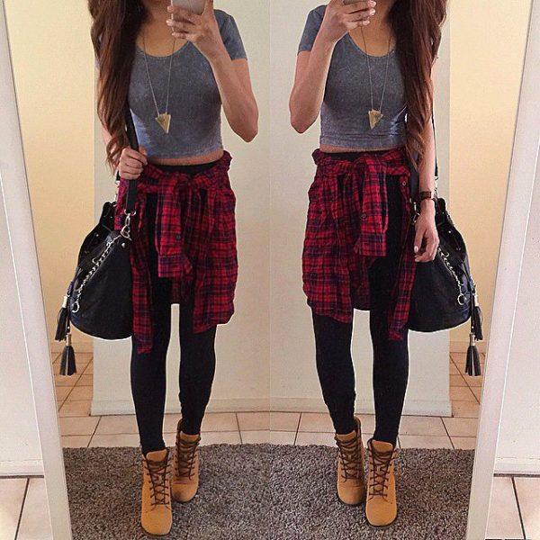 Best La Pinterest: Outfits Súper Chic Con Camisa Amarrada A Tu Cintura