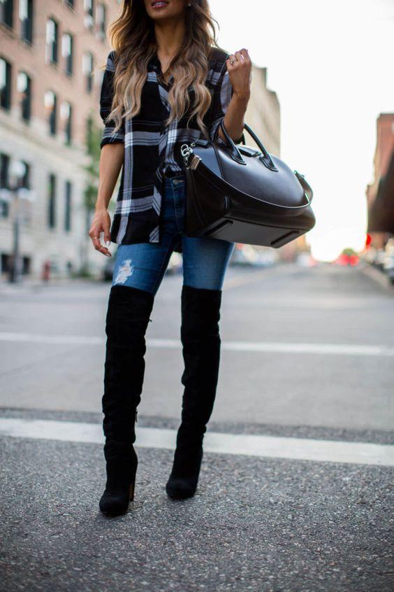 13 Maneras Fashionistas De Combinar Tus Botas Largas