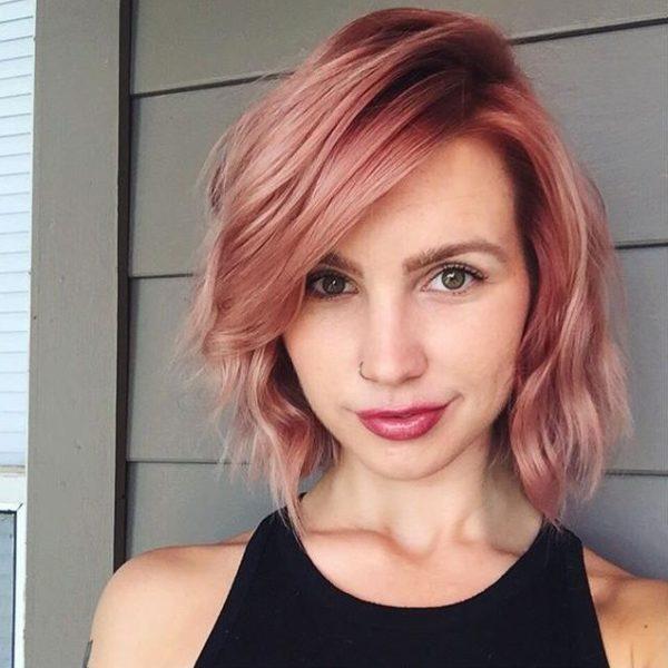 8 Cortes de cabello a los que les queda bien el color Rose Gold