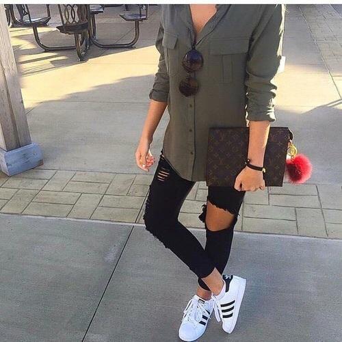 Outfits 'Adidas blancos Superstar' trendy 15 con CoeBrdx