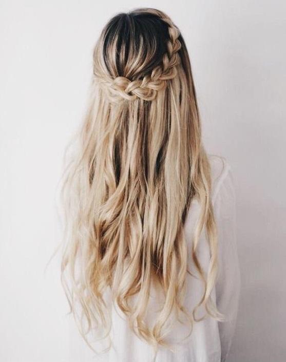 10 Peinados Semi Recogidos Que Tu Cabello Rebelde Amara - Peinado-semirecogido-con-trenza