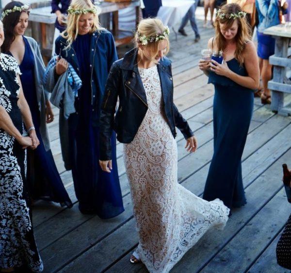 maneras de usar una chamarra de piel el día de tu boda