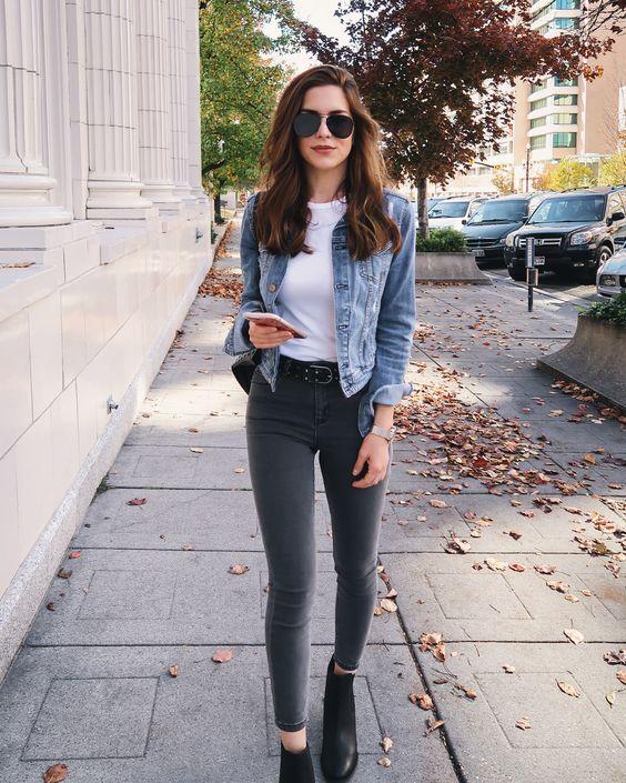 Best White Plains Ideas On Pinterest: Outfits Casuales Con Tacones Y Jeans Para Verte Más Alta