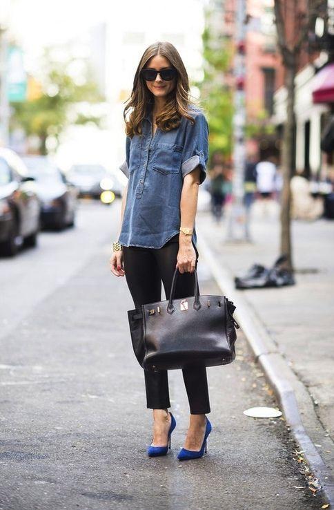 Outfits perfectos para esos zapatos azules que no sabes combinar