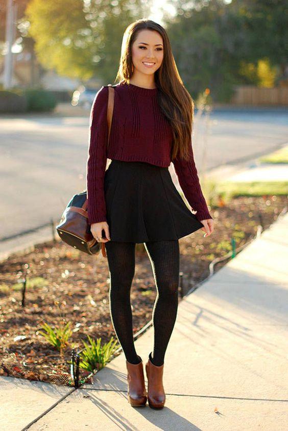 Outfit vestido negro con botines