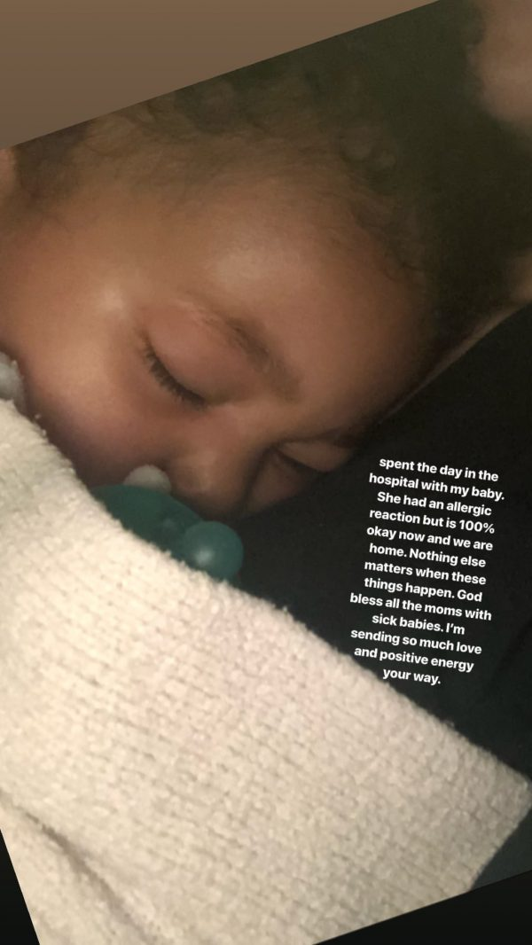 Stormi went to the Hospital